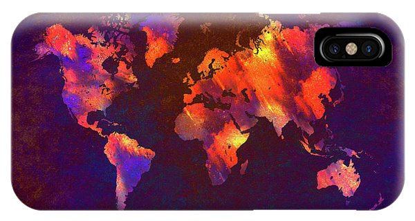 Map Of The World Art IPhone Case