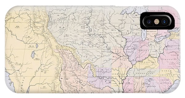 Map Showing The Localities Of The Indian Tribes Of The Us In 1833 IPhone Case