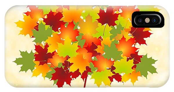 Orange Color iPhone Case - Maple Leaves by Anastasiya Malakhova