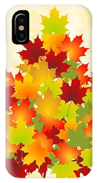 Colourful iPhone Case - Maple Leaves by Anastasiya Malakhova