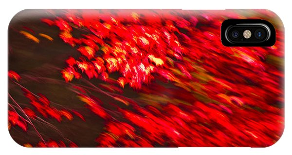 Maple Red Abstract IPhone Case