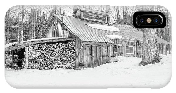 New England Barn iPhone Case - Maple Sugar Shack Stowe Vermont by Edward Fielding