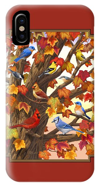 Finch iPhone Case - Maple Tree Marvel - Bird Painting by Crista Forest