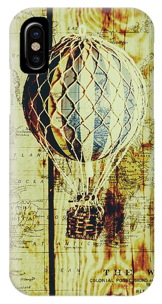 Hot Air Balloons iPhone Case - Mapping A Hot Air Balloon by Jorgo Photography - Wall Art Gallery