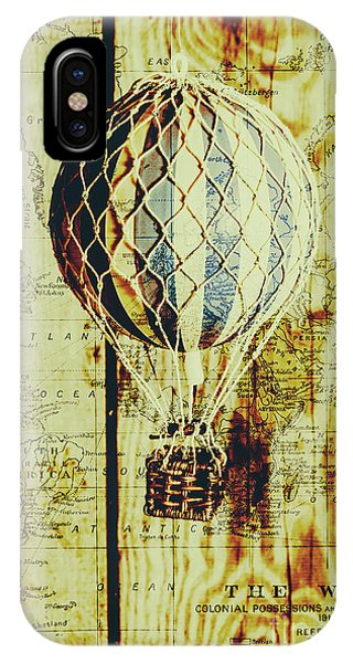 Mapping A Hot Air Balloon IPhone Case