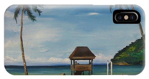 Samantha iPhone Case - Maracas Bay 2 by Samantha Rochard