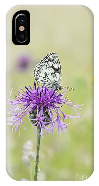 Mottled iPhone Case - Marbled White Butterfly by Tim Gainey