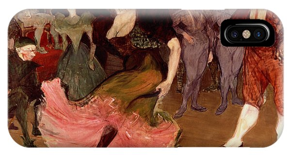 People iPhone Case - Marcelle Lender Dancing The Bolero In Chilperic by Henri de Toulouse Lautrec