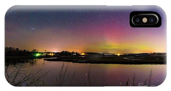 March 6 Aurora Over Scarborough Marsh  IPhone Case