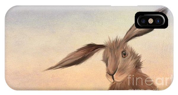 Sitting iPhone Case - March Hare by John Edwards