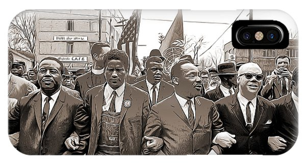 Rights iPhone Case - March Through Selma by Greg Joens