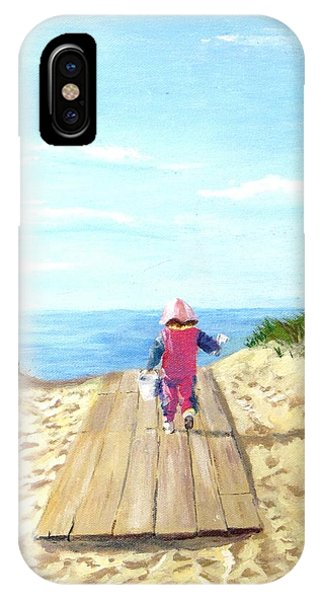 March To The Beach IPhone Case