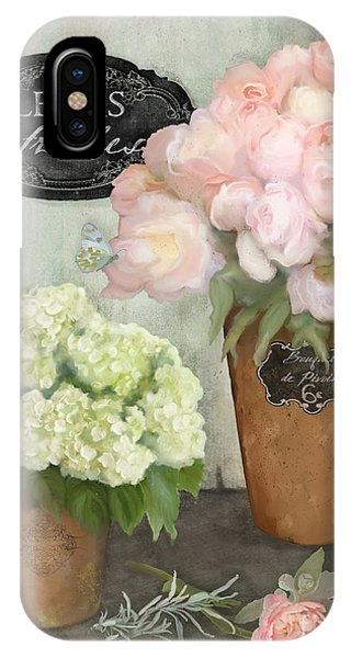 French Artist iPhone Case - Marche Aux Fleurs 2 - Peonies N Hydrangeas by Audrey Jeanne Roberts