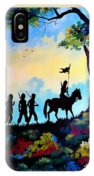 Marching At Daybreak IPhone Case