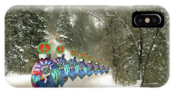 Marching Peace Ornaments IPhone Case