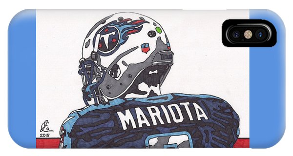 Marcus Mariota Titans 2 IPhone Case