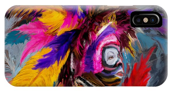 King Charles iPhone Case - Mardi Gras 237 1 by Mawra Tahreem