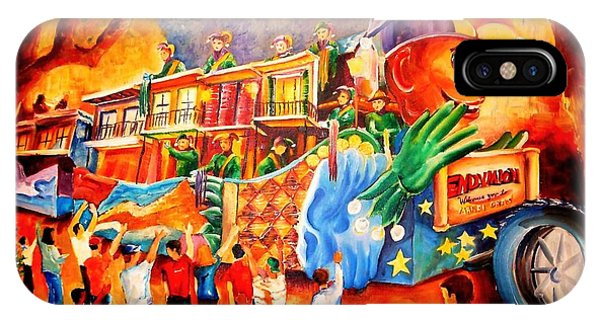 Figurative iPhone Case - Mardi Gras With Endymion by Diane Millsap