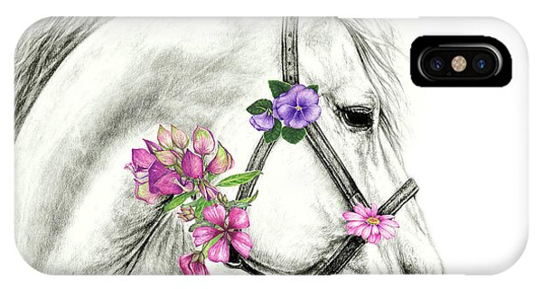 Mare With Flowers IPhone Case