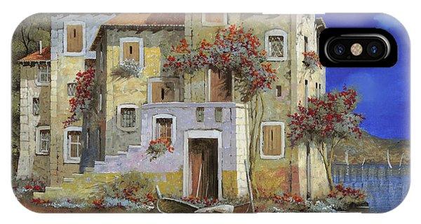 Village iPhone Case - Mareblu' by Guido Borelli