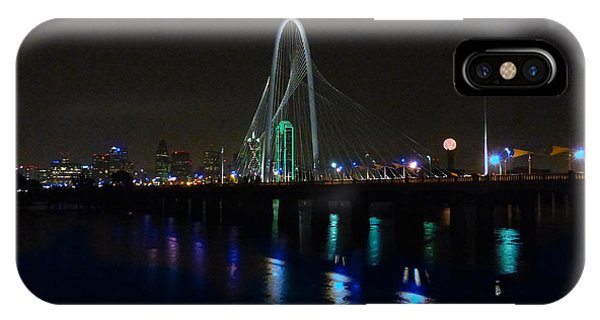 Margaret Hunt Hill Bridge Over Flooding Trinity River IPhone Case