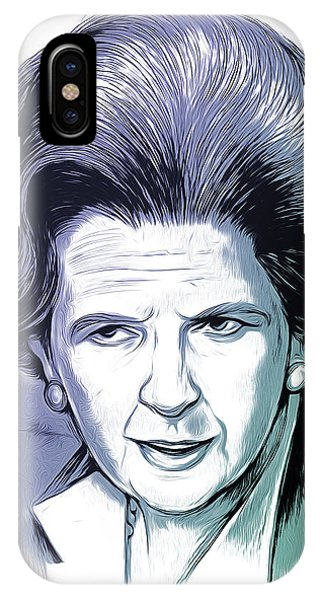 Prime Minister iPhone Case - Margaret Thatcher by Greg Joens