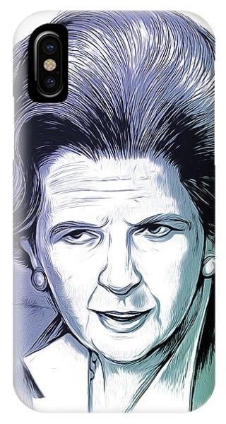 20th iPhone Case - Margaret Thatcher by Greg Joens
