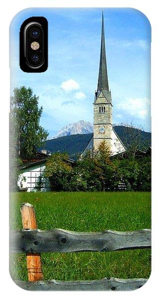 Wiese iPhone Case - Maria Alm by Juergen Weiss