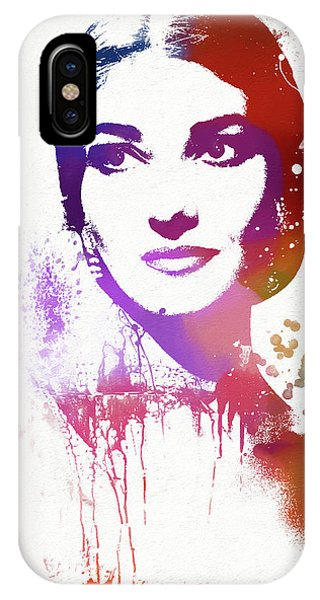 Maria Callas Paint Splatter IPhone Case