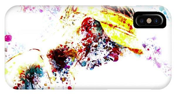 Maria Sharapova Paint Splatter 4p                 IPhone Case