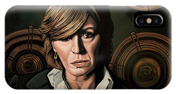 Musicians iPhone Case - Marianne Faithfull Painting by Paul Meijering
