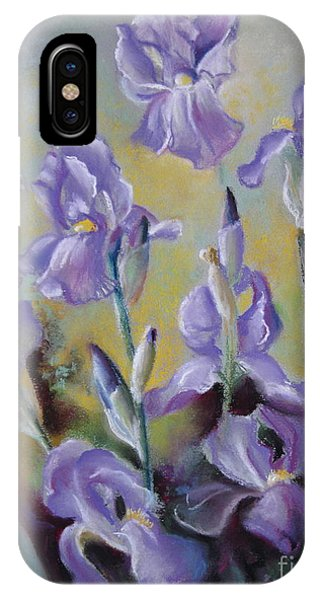 Maria's Irises IPhone Case