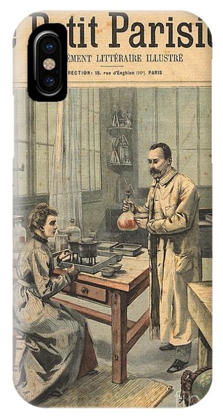 Marie And Pierre Curie In Laboratory IPhone Case
