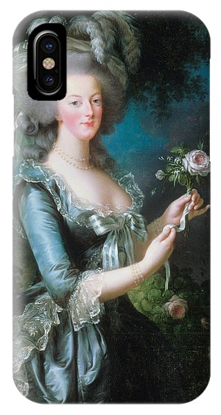 French Painter iPhone Case - Marie-antoinette With The Rose by Louise Elisabeth Vigee Le Brun