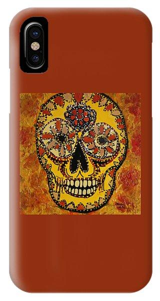 Marigold Skull IPhone Case