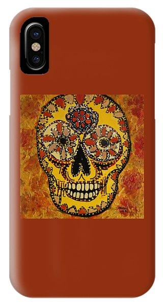 Marigold Skull IPhone Case