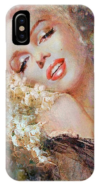 Marilyn Cherry Blossom IPhone Case