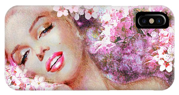 Marilyn Cherry Blossoms Pink IPhone Case