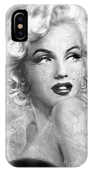 Marilyn Danella Ice Bw IPhone Case