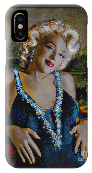 Marilyn Monroe 126 Monalisa IPhone Case