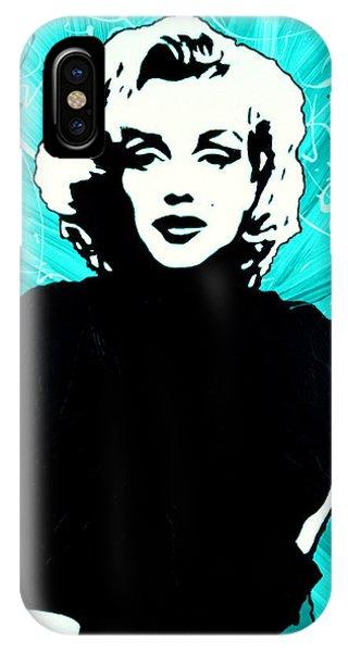 Marilyn Monroe Blue Green Aqua Tint IPhone Case