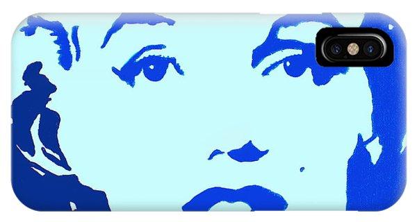 Marilyn Monroe Blue Pop Art Portrait IPhone Case