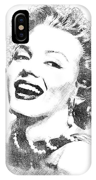 Marilyn Monroe Bw Portrait IPhone Case