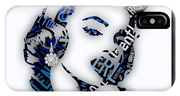Hollywood iPhone Case - Marilyn Monroe Diamonds Are A Girls Best Friend by Marvin Blaine