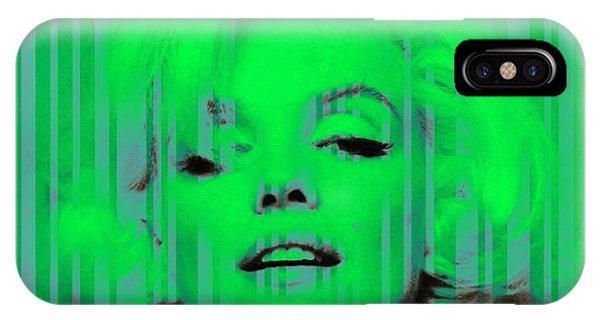 Marilyn Monroe In Green IPhone Case