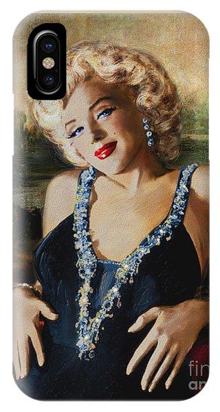 Marilyn Monroe  Mona Lisa  IPhone Case