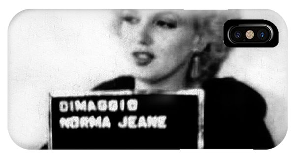 iPhone Case - Marilyn Monroe Mugshot In Black And White by Digital Reproductions