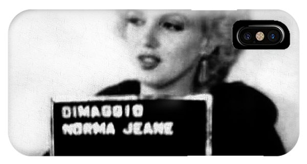 Marilyn Monroe Mugshot In Black And White IPhone Case