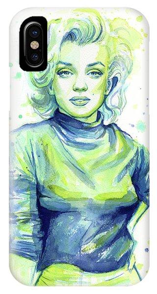 Actor iPhone Case - Marilyn Monroe by Olga Shvartsur