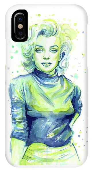 Marilyn Monroe iPhone Case - Marilyn Monroe by Olga Shvartsur